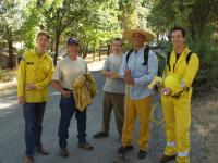 Members of the Ananda Fire First Response Team