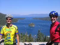 Koral and Bob by Emerald Bay at Lake Tahoe