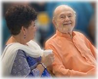 Padma McGilloway, Ananda Seattle Spiritual Director, with Swami Kriyananda