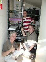 Ric, Koral and Kent during the first day of DSL installation in April 2002