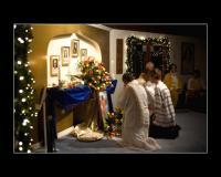 Flower ceremony at Master's Birthday Celebration