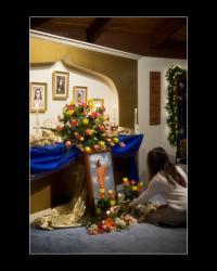Beautiful altar at Master's Birthday Celebration
