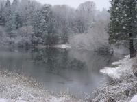 St Francis Pond in Winter at Ananda Village