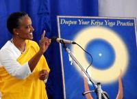Audience at 2008 International Kriya Yoga Retreat in India