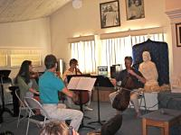 String Quartet playing at Hansa for Swami in Italy