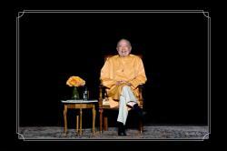 Swamiji on stage