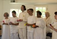 Devotees at a Kriya Initiation Ceremony