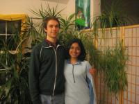 Chitra and I at the Ananda Meditation Retreat