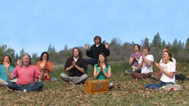 The group praying