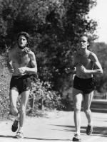 Richard and Raghu Clark running in an Ananda fundraiser