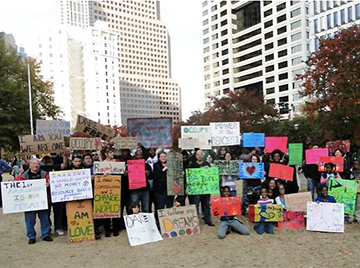 Occupy Signs with group