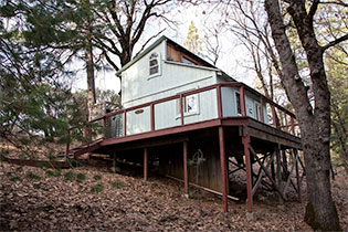 This is the cabin I stayed in during my seclusion.