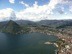 View from Monte Bre, Lugano, Switzerland