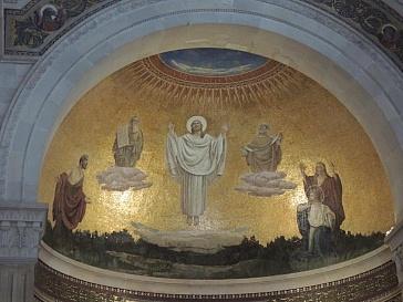 mosaic at church of transfiguration