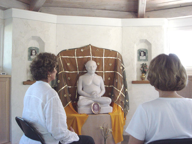 Meditating in Lahiri Mandir near the Expanding Light at Ananda Village