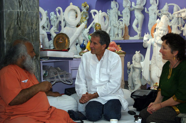 Vidura and Sraddha with Swami Shankarananda