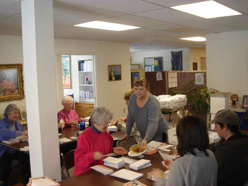 outreach ministry Annual Appeal Mailing Party